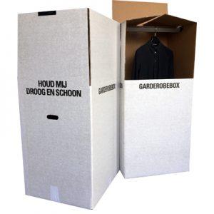 Open en gesloten garderobebox