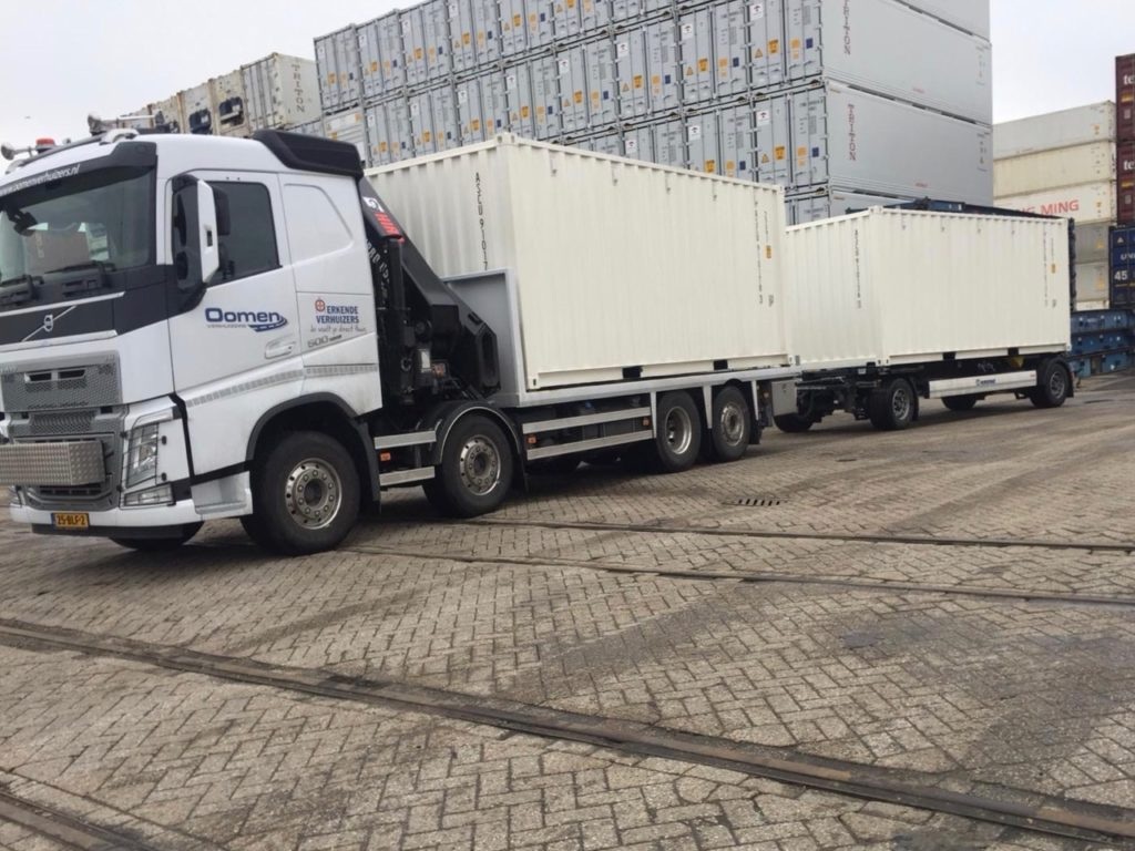 Transport zeecontainer